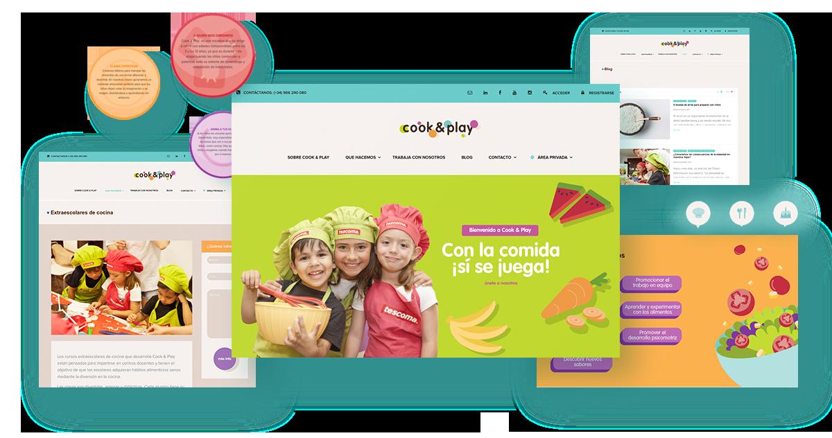 Diseño Web-site Cook & Play