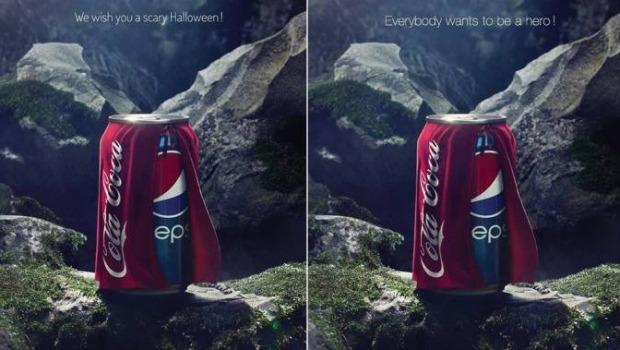 Hackvertising Pepsi vs Coca Cola